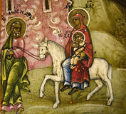 Holy Family. Joseph and Mary with the baby Jesus Royalty Free Stock Image