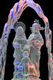 Holy Family. A closeup of the holy family crystal sculpture Stock Photo