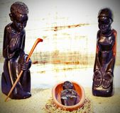Nativity scene and the holy family  from Tanzania with vintage e Stock Photo