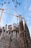 Holy Family Cathedral in Barcelona. Barcelona Sagrada Familia cathedral by Gaudi Royalty Free Stock Image