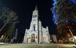 Holy Family church in Zakopane on cold december Royalty Free Stock Photography