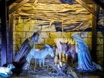 Holy Family crib royalty free stock photography