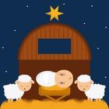 Holy family design. Baby jesus cartoon of holy family theme Vector illustration Royalty Free Stock Image
