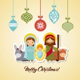 Holy family design Stock Image