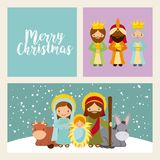 Holy family design Stock Photo