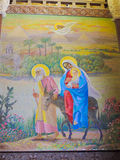 Holy family Escape to Egypt St. Mina Cathedral royalty free stock photo