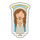 Holy family icon image Stock Photography