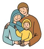 Holy family illustration Royalty Free Stock Image