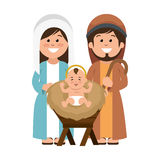 Holy family manger characters Stock Photography