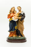 Holy family. Sculpture on white background royalty free stock photography