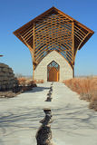 Holy Family Shrine, walkway. Holy Family Shrine, Omaha, Nebraska Stock Image