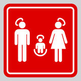 Holy family sign. Minimalistic holy family illustration mimicking an informational sign Stock Image