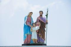 Holy family. Sky background. The Virgin Mary,Saint Joseph Royalty Free Stock Photos