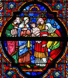 Holy Family - Stained Glass Stock Photography