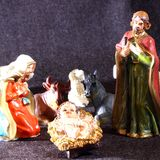 Holy Family in the tradition of Christmas Royalty Free Stock Photography