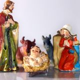 Holy Family in the tradition of Christmas Stock Photos