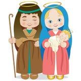 Holy family on a white background stock illustration