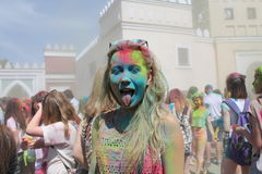 Holy Fest. Holy Color Fest first time in Belarus, June 7, 2015, Minsk, Belarus royalty free stock photos