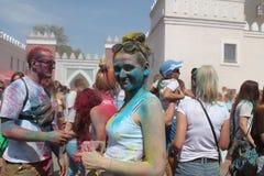 Holy Fest. Holy Color Fest first time in Belarus, June 7, 2015, Minsk, Belarus royalty free stock photo