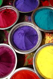 Holy festival Colours. Indian Holy festival colours in bowls Stock Images