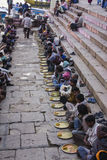 Holy food on the ghats of Varanasi Royalty Free Stock Photos