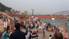 Holy Ganga River Ghat Stock Images