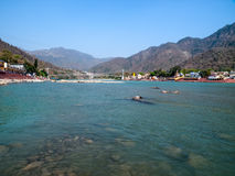 Rishikesh, Ganges river Royalty Free Stock Photos