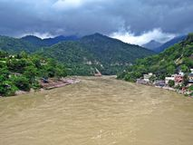 holy Ganges River in Rishikesh, India royalty free stock images