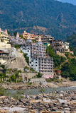 Holy Ganges river in Rishikesh, India. Royalty Free Stock Images