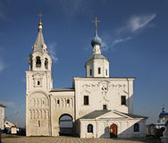 Holy Gate and Gate Church of Assumption in Bogolyubskii Monastery. Bogolyubovo. Vladimir oblast. Russia Royalty Free Stock Photography