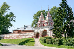 Holy gates of the Monastery of the Deposition of the Robe, Russia, Suzdal stock photos