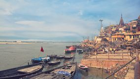 Holy ghat of varanasi, dead city Stock Photos