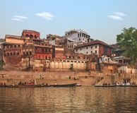 Holy ghat of varanasi, dead city Royalty Free Stock Photography