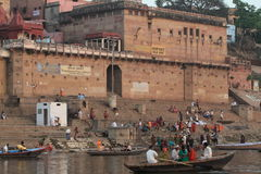 The Holy Ghats of Varanasi Royalty Free Stock Image