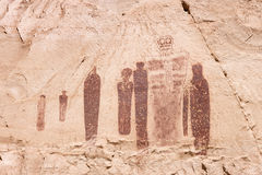 Holy Ghost Petroglyph Royalty Free Stock Images