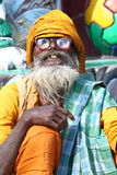 Man with glasses. Holy man in India wearing thick glasses Stock Photography