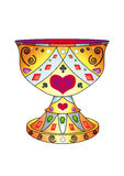 Holy Grail. The allegorical image: legendary bowl Holy Grail, in which, on a legend, blood of the Christ has been collected Royalty Free Stock Photo