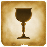 Holy grail symbol on old paper Royalty Free Stock Photos