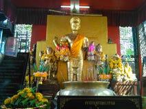Holy graven image in Phra Kal shrine Stock Photos