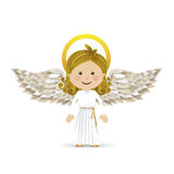 Holy guardian angel. Over white background vector illustration Stock Images