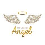 Holy guardian angel stock illustration