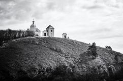 Holy hill, Mikulov, Czech republic, colorless Stock Photography