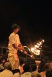 Holy Hindu Ceremony in Varanasi Royalty Free Stock Photos