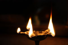 Holy Hindu Lamp Stock Image