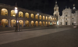 Holy House of Loreto by night, Italy Royalty Free Stock Photo