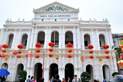 Holy house of Mercy. In Chinese Macao.The photo was taken as 2015.3.1 Stock Photography