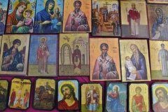 holy icons on the market for sale Stock Image