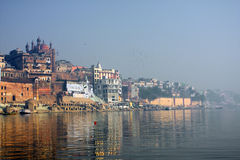 Holy Indian city Varanasi Stock Images