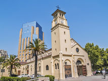 Holy Innocents church in Santiago Royalty Free Stock Image