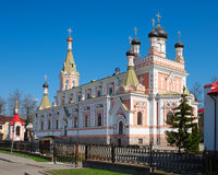 Holy intercession orthodox Cathedral in Grodno, Belarus. Stock Images